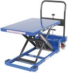 "900lb Capacity Low Profile Manual Scissor Lift Table w/ Auto-Shift - 23.63""W x 35.5""L thumb"