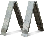 """96"""" Long x 9.5"""" Wide Foldable All-Aluminum Perforated Ramps thumb"""