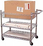 3 Adjustable Wire Shelf Mail Cart  thumb