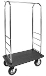 Outdoor Easy-Mover Luggage Cart with Black Plastic Deck thumb