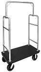 Outdoor Bellman Luggage Cart with Black Plastic Deck thumb
