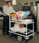 Motorized 2 Shelf Mail Room Cart