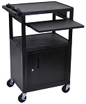 Computer Work Station with Front Pull Out Shelf and Cabinet thumb