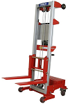 """Counterbalance Hand Winch Fork Lift Truck with Invertible Forks - 142"""" Lift thumb"""