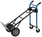 """Convertible 4-in-1 Steel Hand Truck with 10"""" Rubber Wheels thumb"""