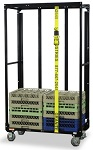 Double Stack Glassware and Dishware Rack Dolly with Steel Uprights thumb
