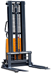 "Ekko Power Lift Straddle Stacker 119"" Lift 3300lb Capacity with Larger Battery thumb"