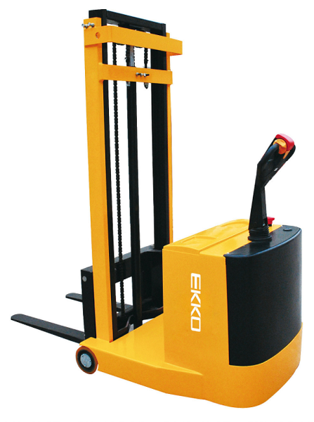"Ekko Counterbalance Power Drive and Lift Stacker 118"" Lift 1100lb Capacity"