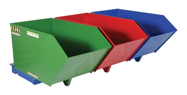 2000 lb Triple Bin Recycling Hopper thumb