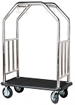 Stainless Steel Double Curved Bar Top Bellman Cart thumb