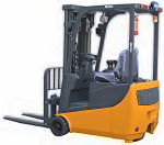 """Ekko Power Drive and Lift 3 Wheel Forklift 189"""" Lift 3300lb Capacity with Lithium-Ion Battery thumb"""