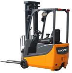 "Ekko Power Drive and Lift 3 Wheel Forklift 138"" Lift 3300lb Capacity thumb"