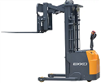 """Electric Stacker With Reach and Side Shifting Forks 138"""" Lift 3300lb Capacity thumb"""