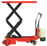 """NOBLELIFT 770 lbs Capacity Electric Battery Power Lift Double Scissor Lift Table 20"""" x 36"""" with 51"""" Lift"""