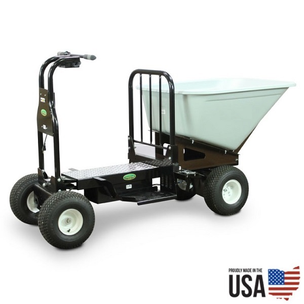 Electric Powered Ride on Cart with 10 Cubic Feet Hopper thumb