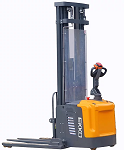 """Electric Stacker With Reach and Side Shifting Forks 216"""" Lift 4400lb Capacity thumb"""