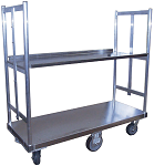 Extra Wide Aluminum U-Boat Cart with Shelf thumb