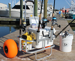 Fish-N-Mate Fishing Cart with Poly Wheels and Rod Holders thumb