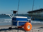 Fish-N-Mate Junior Fishing Cart with Poly Wheels thumb