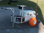 Fish-N-Mate Senior Fishing Cart with Poly Wheels thumb