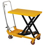 Foldable Single Scissor Lift Table 660 lb Capacity thumb