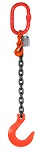 4500 lbs Chain Lifting Sling with Single Foundry Hook thumb