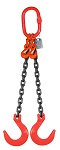 12300 lbs Chain Lifting Sling with Double Foundry Hook thumb