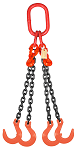 11700 lbs Chain Lifting Sling with Quadruple Foundry Hook thumb