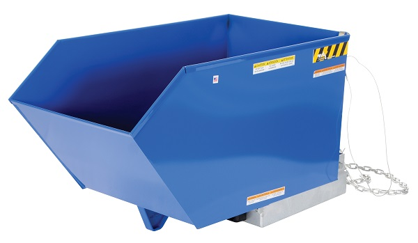 4000 lb Capacity-90° Adjustable Self Dumping Steel Hopper thumb