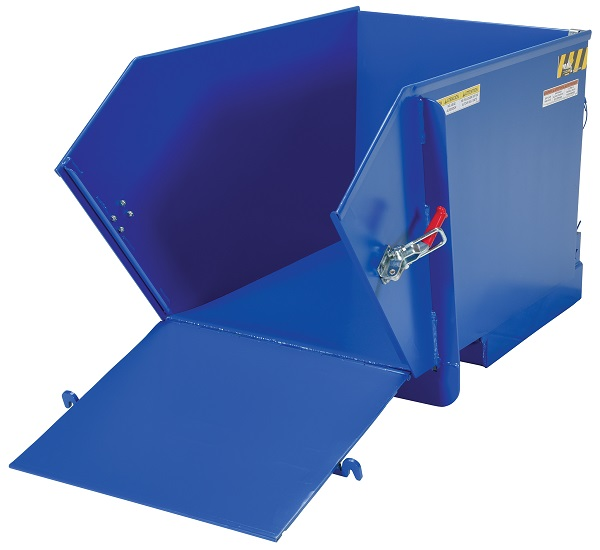 6000 lb Capacity Self-Dumping Steel Hopper with Fold Down Front thumb