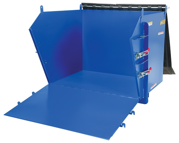 Self-Dumping Steel Hopper with Fold Down Front - 2000 lb Capacity thumb