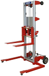 """Hand Winch Fork Lift Truck with Adjustable Base and Invertible Forks - 142"""" Lift thumb"""