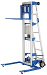 Hand Winch Lift Truck with Straddle Outrigger Legs and Retractable Ladder - 350 lbs Capacity thumb