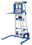 Hand Winch Lift Truck with Straddle Outrigger Legs and Retractable Ladder thumb