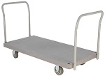 Heavy Duty Double Handle Plastic Platform Trucks thumb