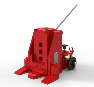 16 1/2 Ton Toe Jack With Wheels thumb