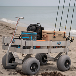 Large Aluminum Beach and Fishing Wagon with UV Deck thumb