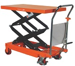 1540 lbs Capacity NOBLELIFT Manual Double Scissor Lift Table thumb