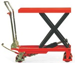 1100 lbs Capacity NOBLELIFT Manual Single Scissor Lift Table thumb