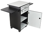 Mobile Multi-Media Work Station with Locking Cabinet thumb