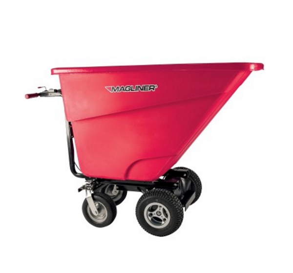 Motorized Dumping Cart - 13-1/2 Cubic Feet 400lb Capacity