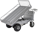 Off-Road Powered Drive Cart with Tiltable Platform thumb