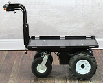 "Outdoor Electric Platform Cart with Big Rugged Wheels - 34"" Long Platform thumb"
