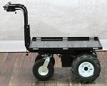 "Outdoor Electric Platform Cart with Big Rugged Wheels - 34"" Long Platform"