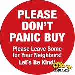 Please Do Not Panic Buy Floor Sign thumb