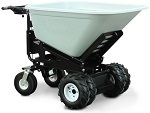 Power Drive and Dump Wheel Barrow with 10 Cubic Foot Dump Hopper