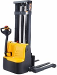 "Power Drive and Lift Straddle Stacker 118"" Lift 2200lb Capacity thumb"