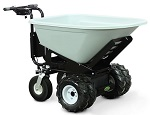 Power Wheel Barrow with 8 Cubic Foot Dump Hopper