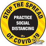 Stop The Spread of Coronavirus (COVID-19) Safety Floor Sign thumb