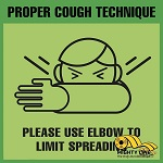 Proper Cough Technique Safety Floor Sign thumb
